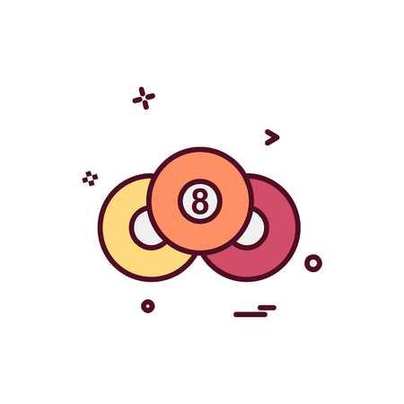 Pool icon design vector Vectores