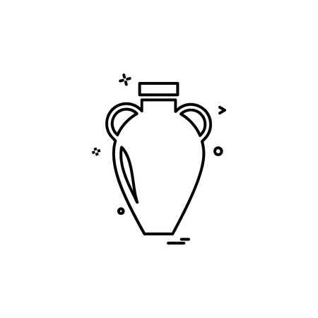 Vase icône vecteur de conception Vecteurs