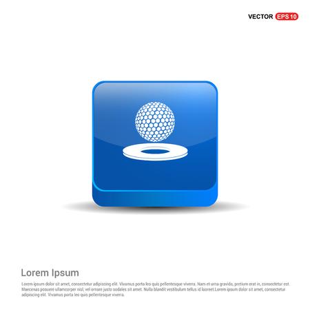 Golf design Icon - 3d Blue Button.