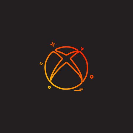 Xbox icon design vector Illustration