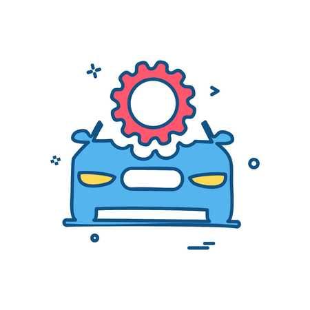 car repairing setting gear icon vector design