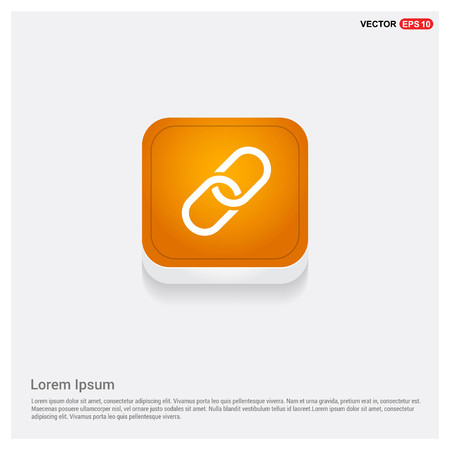 paper clip icon Orange Abstract Web Button - Free vector icon