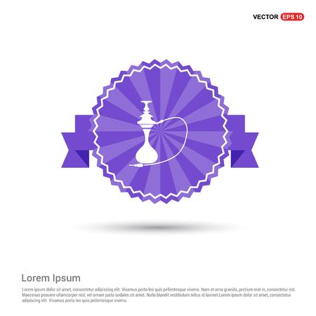 Hookah icon - Purple Ribbon banner