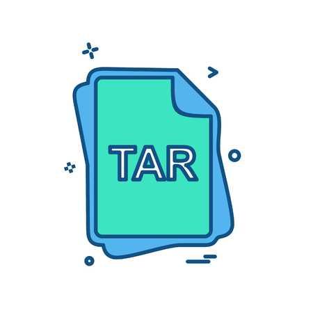 TAR file type icon design vector
