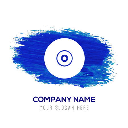 Cd disc icon - Blue watercolor background