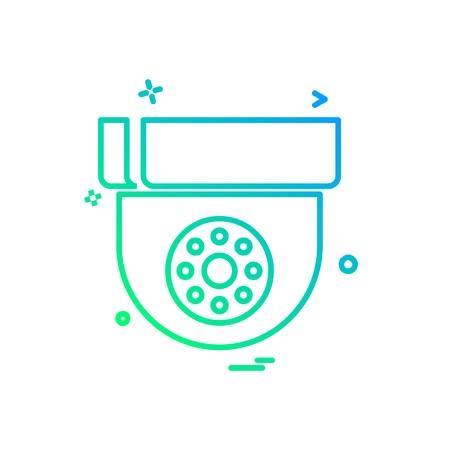CCTV camera icon design vector