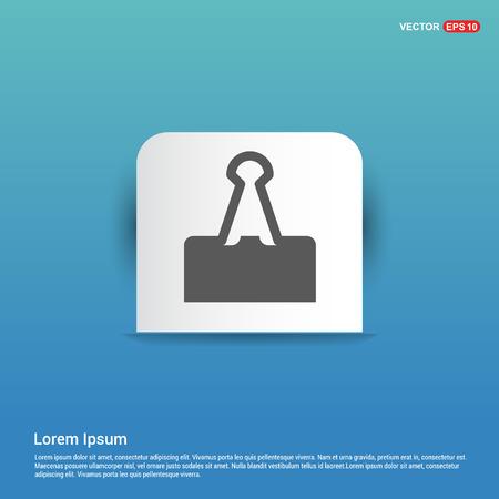 Attach Paper Icon - Blue Sticker button