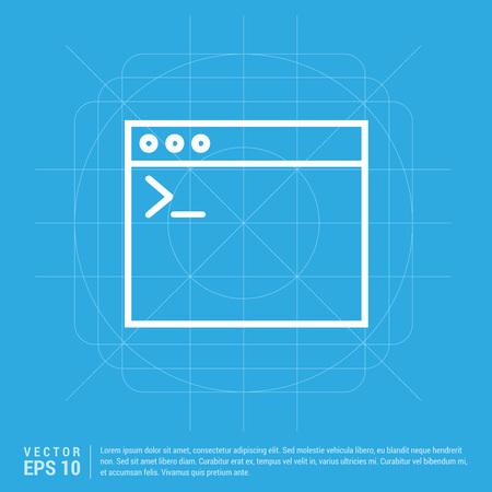 Application window interface icon