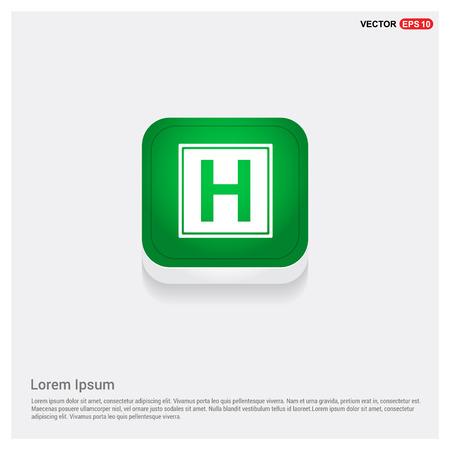 Helipad simple flat icon