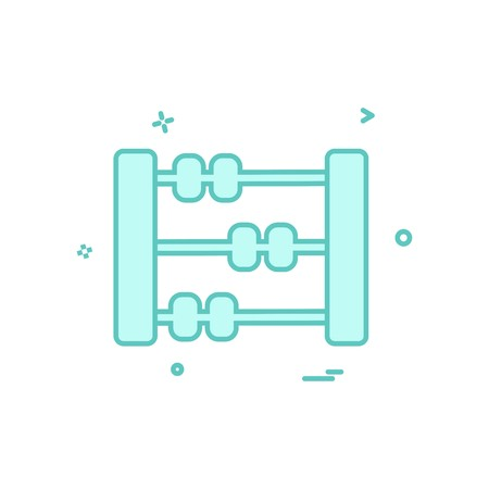 Abacus icon design vector