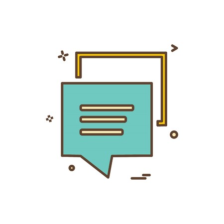 chat sms bubble icon vector design