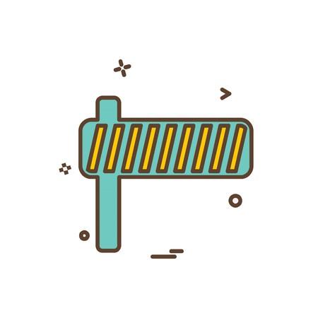 Stop barrier icon design vector