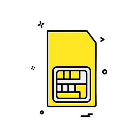 Sim card icon design vector