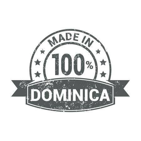 Dominica stamp design vector