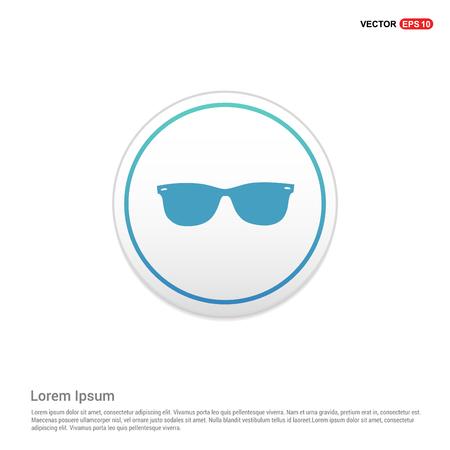 Goggle icon - white circle button