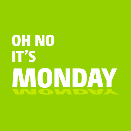 Monday Typogrpahic design vector