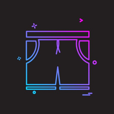 Shorts icon design vector