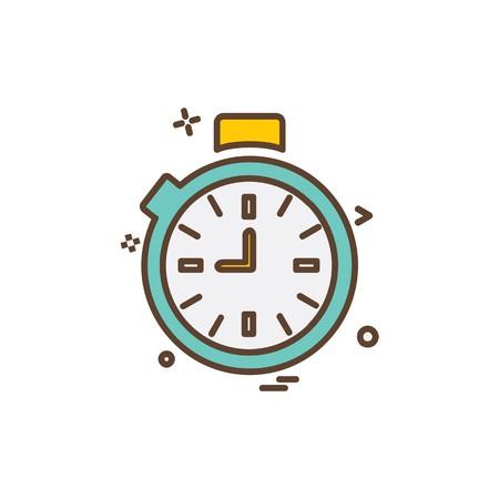 Clock icon design vector Ilustração