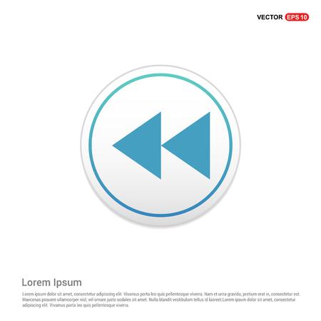 Rewind Icon - white circle button