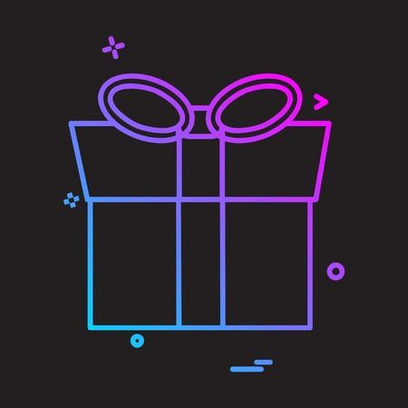 Birthday icon design vector Illusztráció