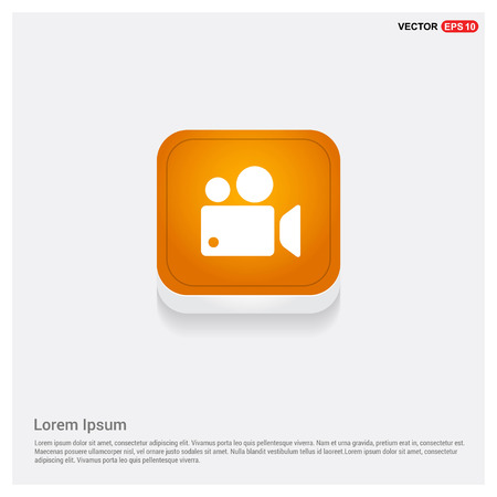 Photo camera icon Orange Abstract Web Button - Free vector icon