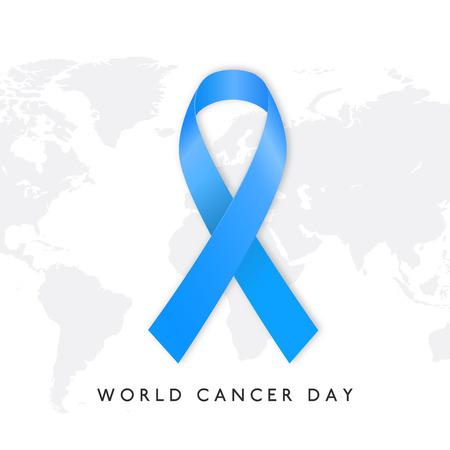 World cancer day design with elegent background vector Illustration