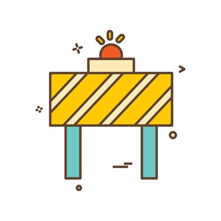 road blocker vector design
