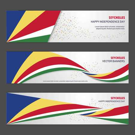 Seychelles independence day abstract background design banner and flyer, postcard, landscape, celebration vector illustration Stock Illustratie