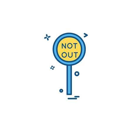 notout decision umpair icon vector design