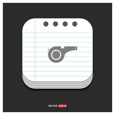 Referee Whistle Icon - Free vector icon