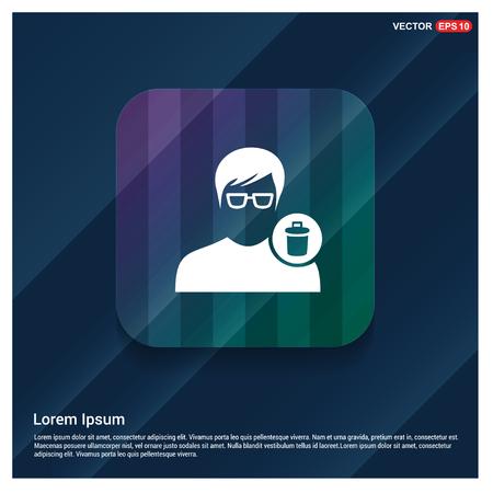 Delete user icon. - Free vector icon