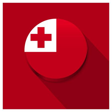 Tonga Flag design vector