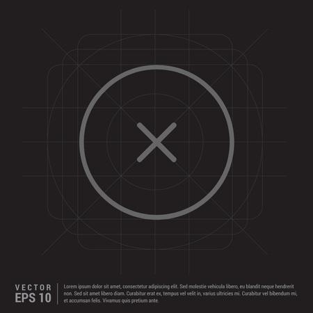 Close, Cancel or Delete Icon Vektorové ilustrace