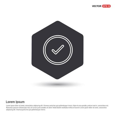 tick Icon Hexa White Background icon template - Free vector icon