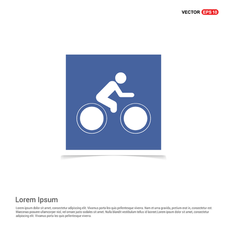 Track Cycling Icon - Blue photo Frame Illustration