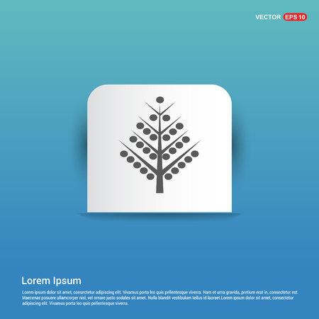 X-Mas Tree Icon - Blue Sticker button