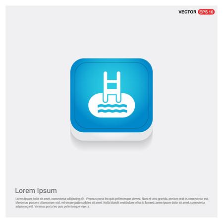 Indoors swimming pool icon Vector Illustratie