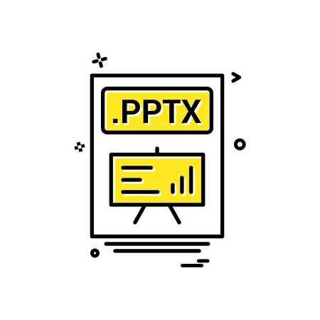 file files pptx icon vector design