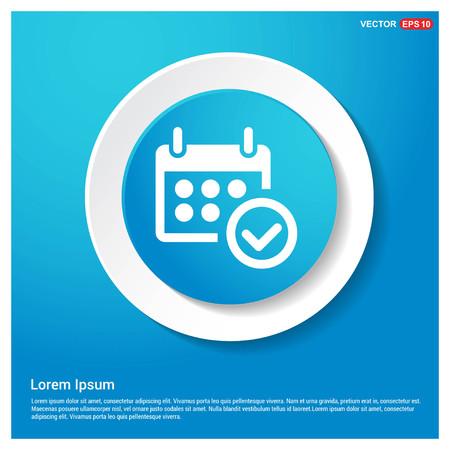 Calendar Icon Abstract Blue Web Sticker Button - Free vector icon