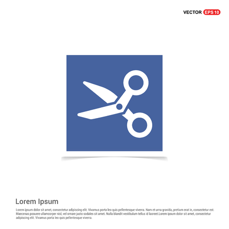 Scissors icon - Blue photo Frame