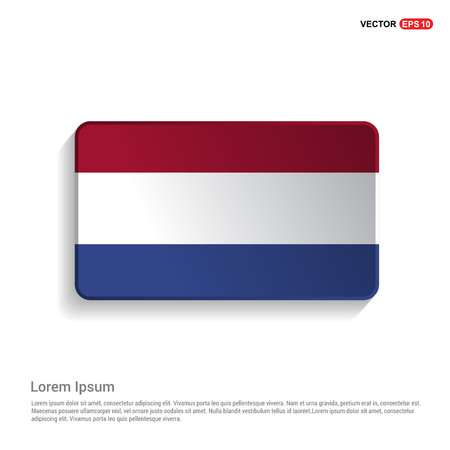 Netherland flags design vector