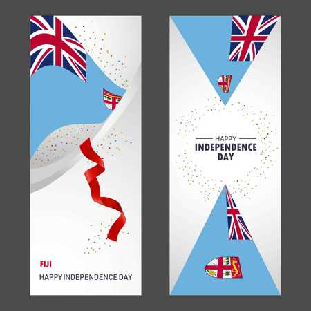Federation Bosnia and Herzegovina Happy independence day Confetti Celebration Background Vertical Banner set