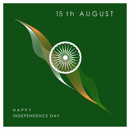 Vecteur de conception de jour de l'indépendance indienne
