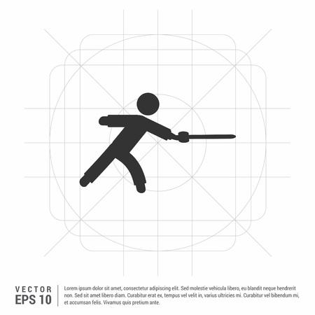 Swordman Icon Illustration