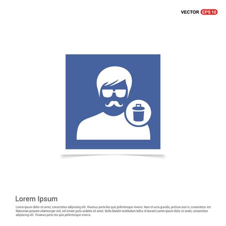 Delete user icon. - Blue photo Frame