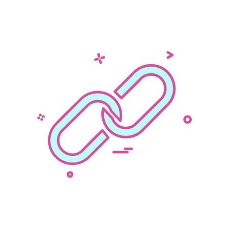 attach icon vector design Illustration