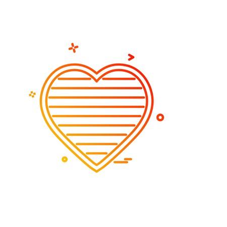 Hearts icon design vector