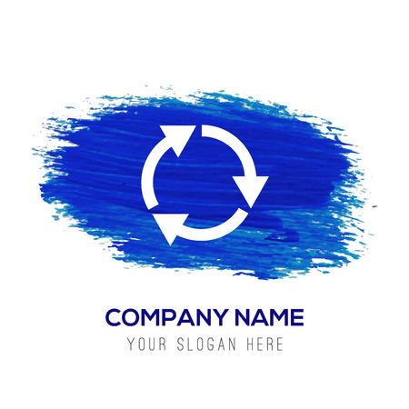 Reload Icon - Blue watercolor background Ilustración de vector