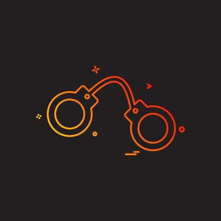 handcuff arrest police icon vector design