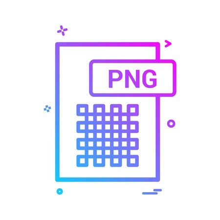 png file format icon vector design
